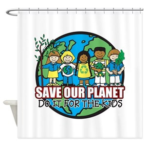 Save Our Planet Shower Curtains