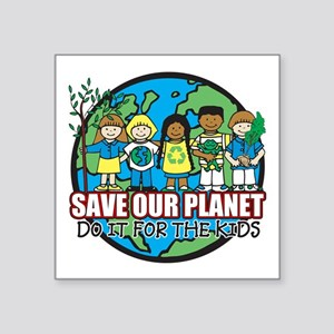 """Save Our Planet Square Sticker 3"""" x 3"""""""