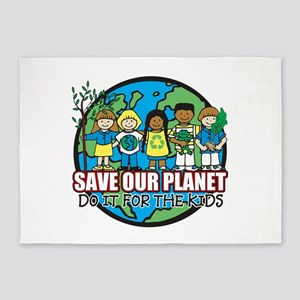 Save Our Planet 5'x7'Area Rug