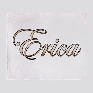 Gold Erica Throw Blanket
