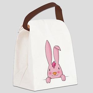 maternity baby girl rabbit Canvas Lunch Bag