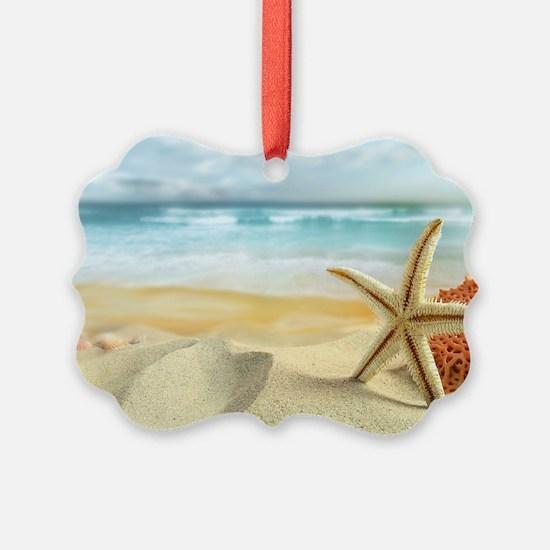 Starfish on Beach Ornament