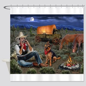 Lonesome Cowboy Shower Curtain