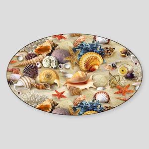 Sea Shells Sticker (Oval)