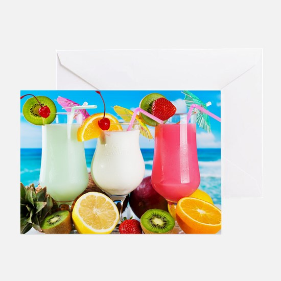 Exotic Summer Cocktails Greeting Card