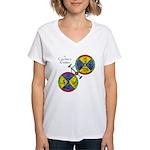 Cyclist's Zodiac Women's V-Neck T-Shirt