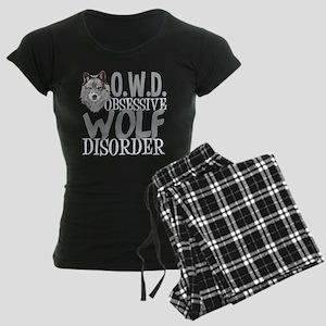 Funny Wolf Women's Dark Pajamas