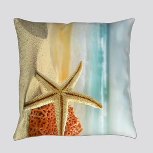 Starfish on Beach Everyday Pillow