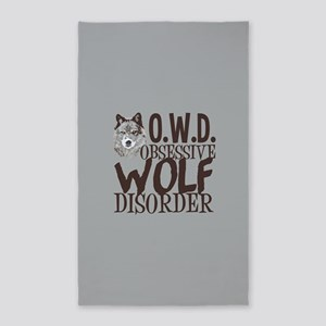 Funny Wolf Area Rug