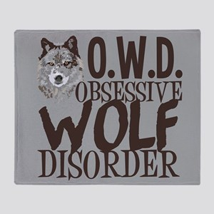 Funny Wolf Throw Blanket