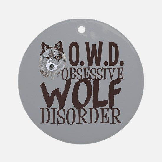 Funny Wolf Ornament (Round)