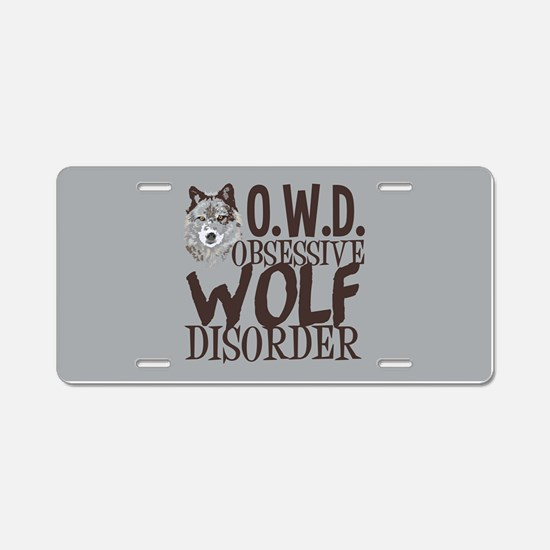 Funny Wolf Aluminum License Plate