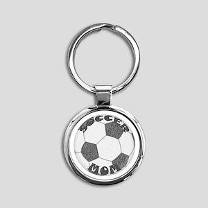 Soccer Mom Round Keychain Keychains