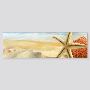 Starfish on Beach Bumper Sticker
