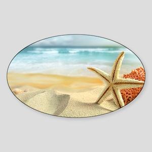 Starfish on Beach Sticker