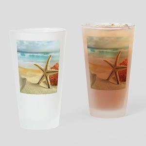 Starfish on Beach Drinking Glass