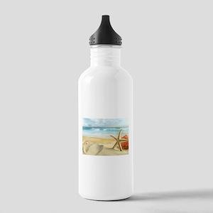 Starfish on Beach Water Bottle