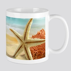 Starfish on Beach Mugs