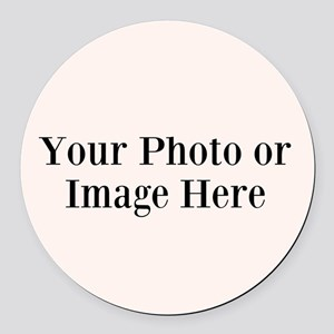 Your Photo or Design Here Round Car Magnet