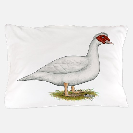 Duck White Muscovy Pillow Case