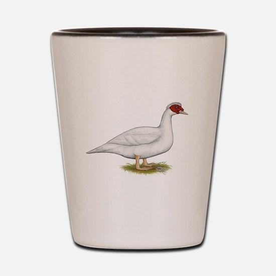 Duck White Muscovy Shot Glass