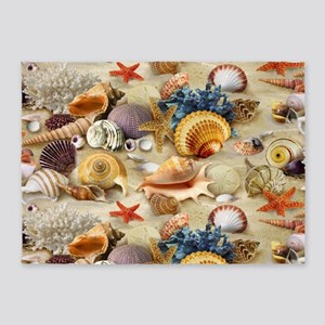 Sea Shells 5'x7'Area Rug