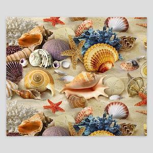 Sea Shells King Duvet