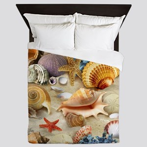 Sea Shells Queen Duvet