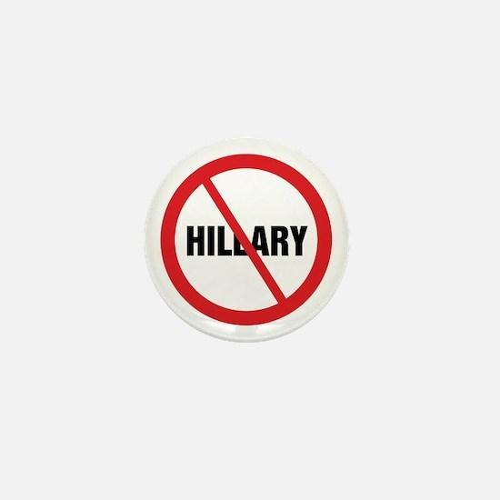 No Hillary Mini Button