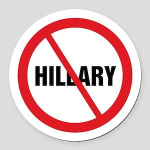 No Hillary Round Car Magnet