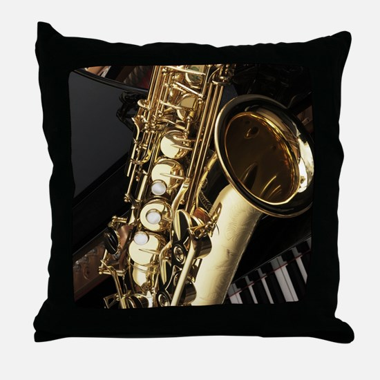 Saxophone And Piano Throw Pillow