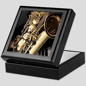 Saxophone And Piano Keepsake Box