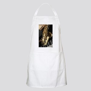 Saxophone And Piano Apron