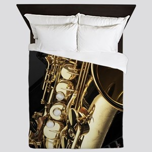 Saxophone And Piano Queen Duvet