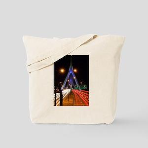 Zakim Bridge at Night Tote Bag