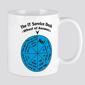 IT Wheel of Answers Stainless Steel Travel Mugs