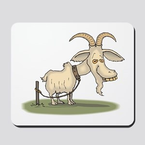 Cartoon Funny Old Goat Mousepad