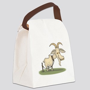 Cartoon Funny Old Goat Canvas Lunch Bag