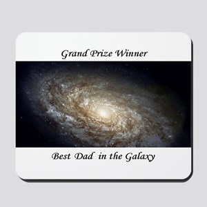 Best Dad in the Galaxy Mousepad Astronomy Gift