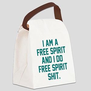 Free Spirit Shit Canvas Lunch Bag