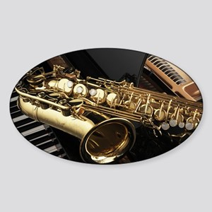 Saxophone And Piano Sticker