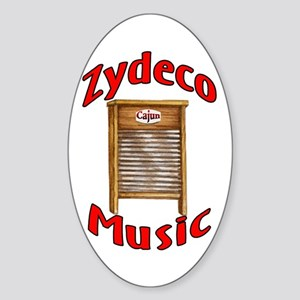 Zydeco Washboard Oval Sticker
