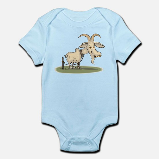 Cartoon Funny Old Goat Body Suit