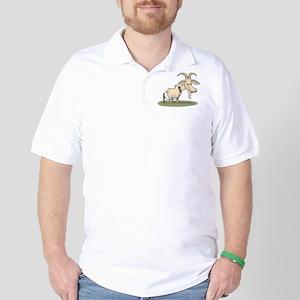 Cartoon Funny Old Goat Golf Shirt