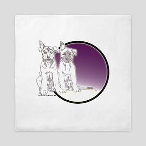 Huskies Queen Duvet