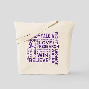 Fibromyalgia Awareness slogan Tote Bag