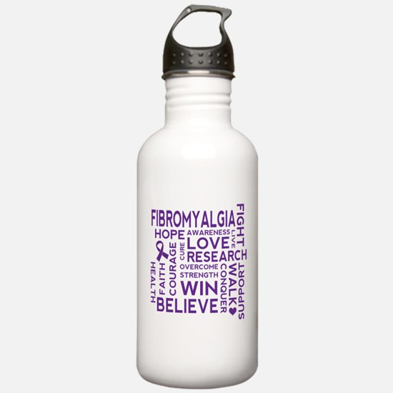 Fibromyalgia Awareness slogan Water Bottle