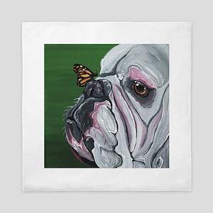 English Bulldog and Butterfly Queen Duvet