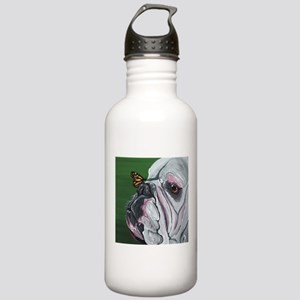 English Bulldog and Butterfly Water Bottle