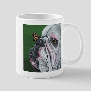 English Bulldog and Butterfly Mugs